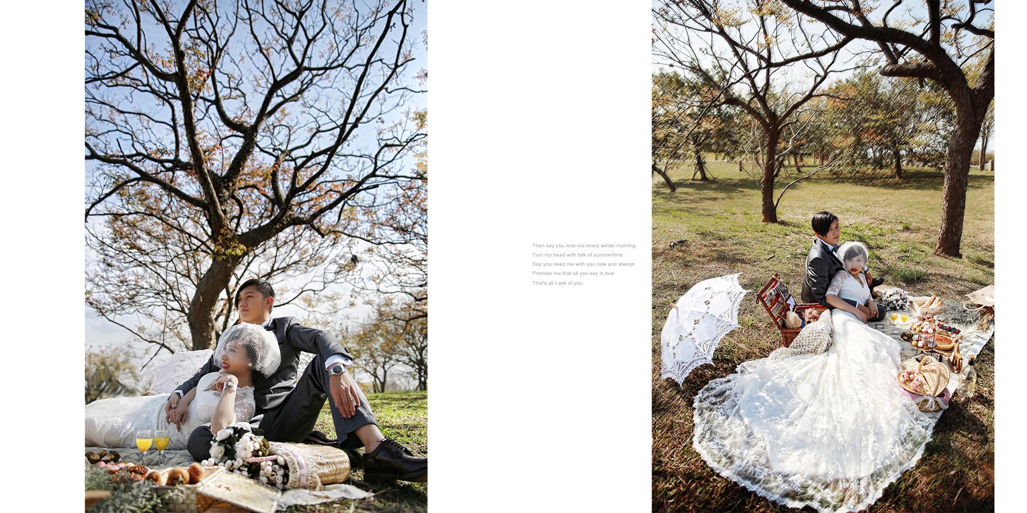 9.貴族下午茶野餐風格婚紗