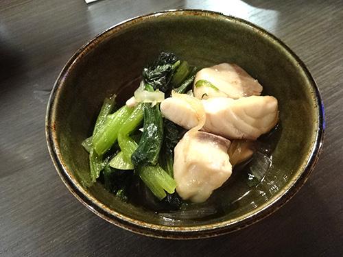 08ブリと小松菜の炒め物