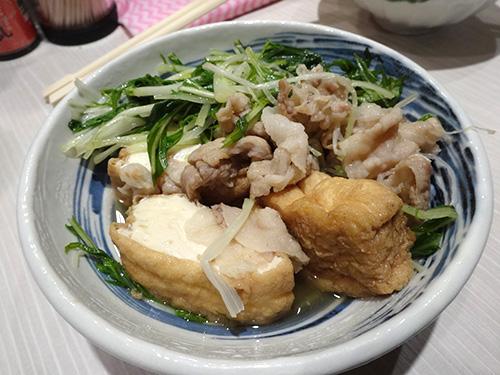 18水菜と豚と厚あげ煮300