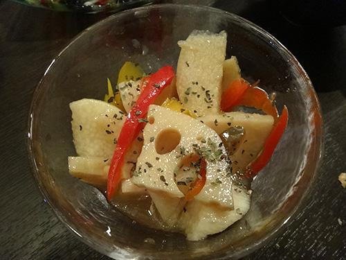 34長芋と徳島蓮根の和風ピクルス