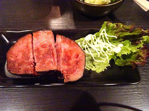 37黒胡椒ハムステーキ