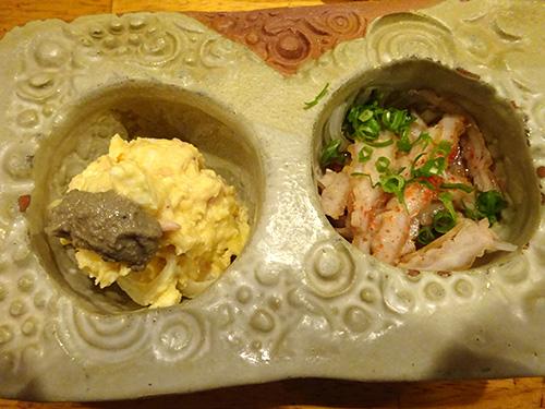 04二種カニ味噌のっけポテサラカススライスポン酢