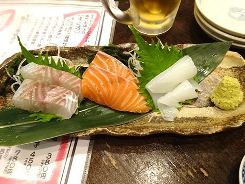 44超新鮮お造り3種盛りすずきサーモン剣イカ