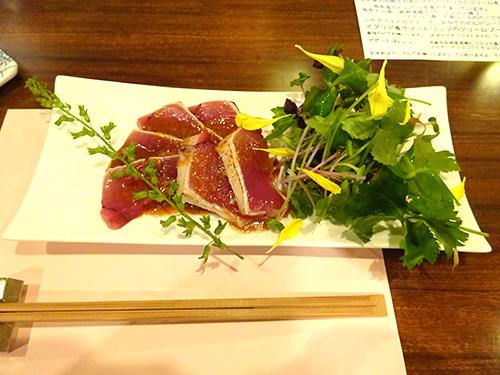 05石川産天然ヨコワのカルパッチョ仙台醤油のソース