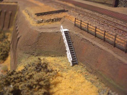 鉄道模型 ローカル駅舎 鉄柵フェンス6