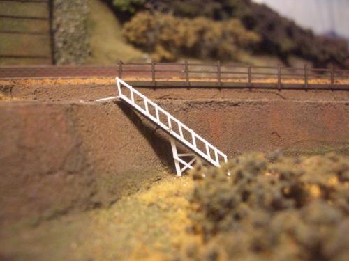 鉄道模型 ローカル駅舎 鉄柵フェンス5