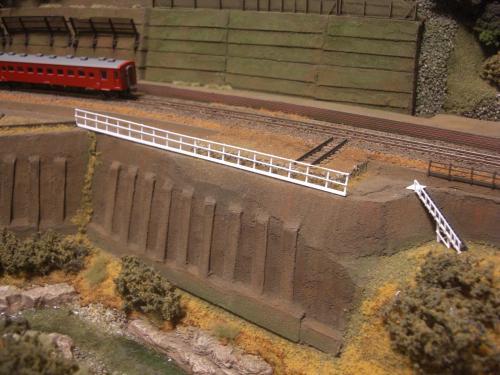 鉄道模型 ローカル駅舎 鉄柵フェンス8