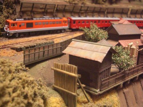 鉄道模型 ローカル駅舎 鉄柵フェンス1