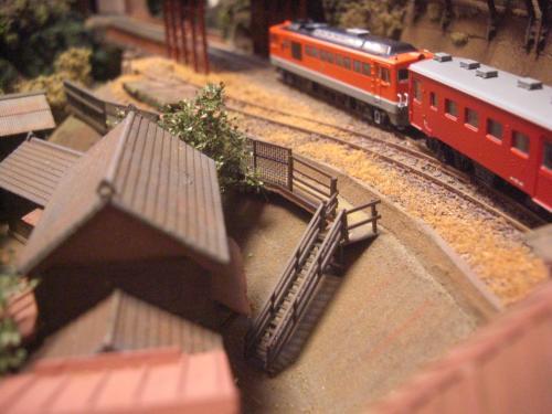 鉄道模型 ローカル駅舎 鉄柵フェンス4