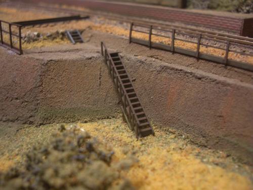 鉄道模型 ローカル駅舎 鉄柵フェンス7