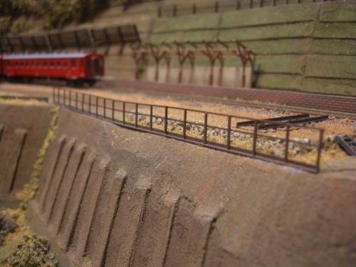 鉄道模型 ローカル駅舎 鉄柵フェンス9