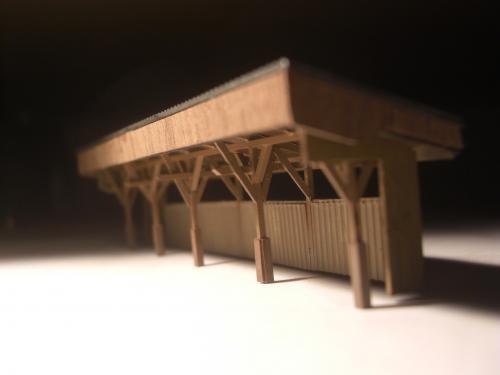 鉄道模型 ローカル駅 木造待合所9