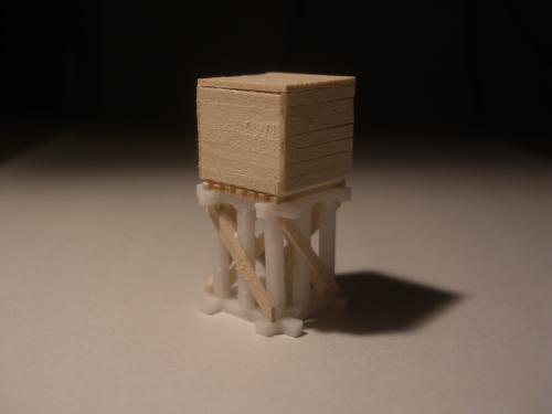森林鉄道 給水塔 鉄道模型2