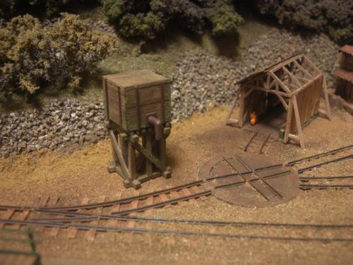 森林鉄道 給水塔 鉄道模型1