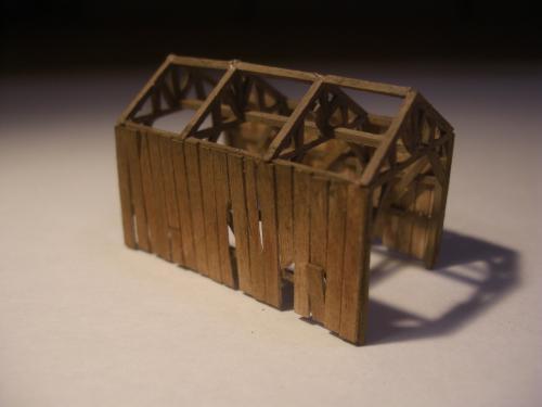鉄道模型  森林鉄道機関庫 Zゲージ 3