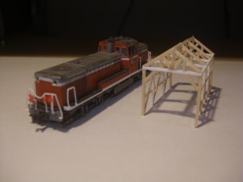 鉄道模型 軽便機関庫 6