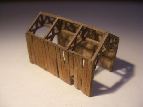 鉄道模型  森林鉄道機関庫 Zゲージ 6