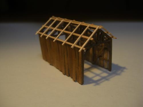 鉄道模型  森林鉄道機関庫 Zゲージ 7