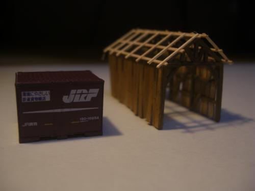 鉄道模型  森林鉄道機関庫 Zゲージ 8