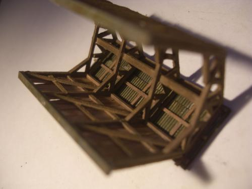 鉄道模型  森林鉄道機関庫 Zゲージ 15