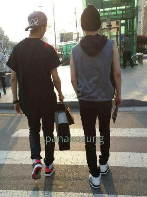 140418 Luhan and Xiumin