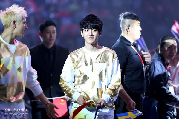 140406 Baekhyun @ Peace, Love, Friendship Concert 4