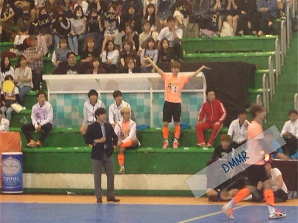 140526 Luhan at MBC Idol Futsal Championship