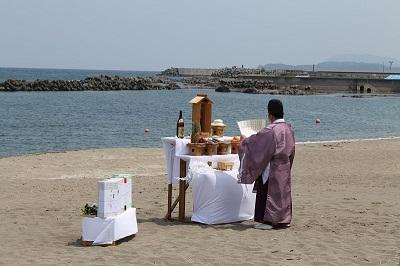 浜中・モイレ海水浴場 浜開き 2014年7月18日 018 神事アップ