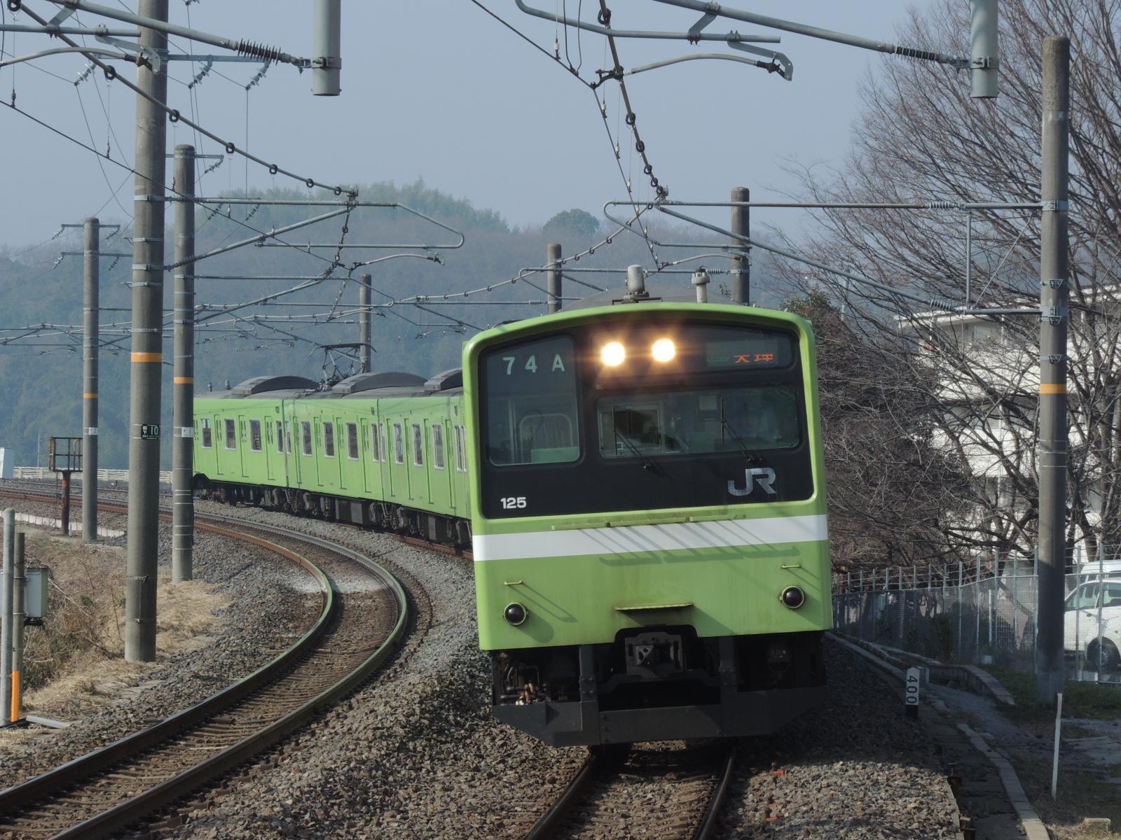 201系ND610編成快速天理行き(三郷) (1)