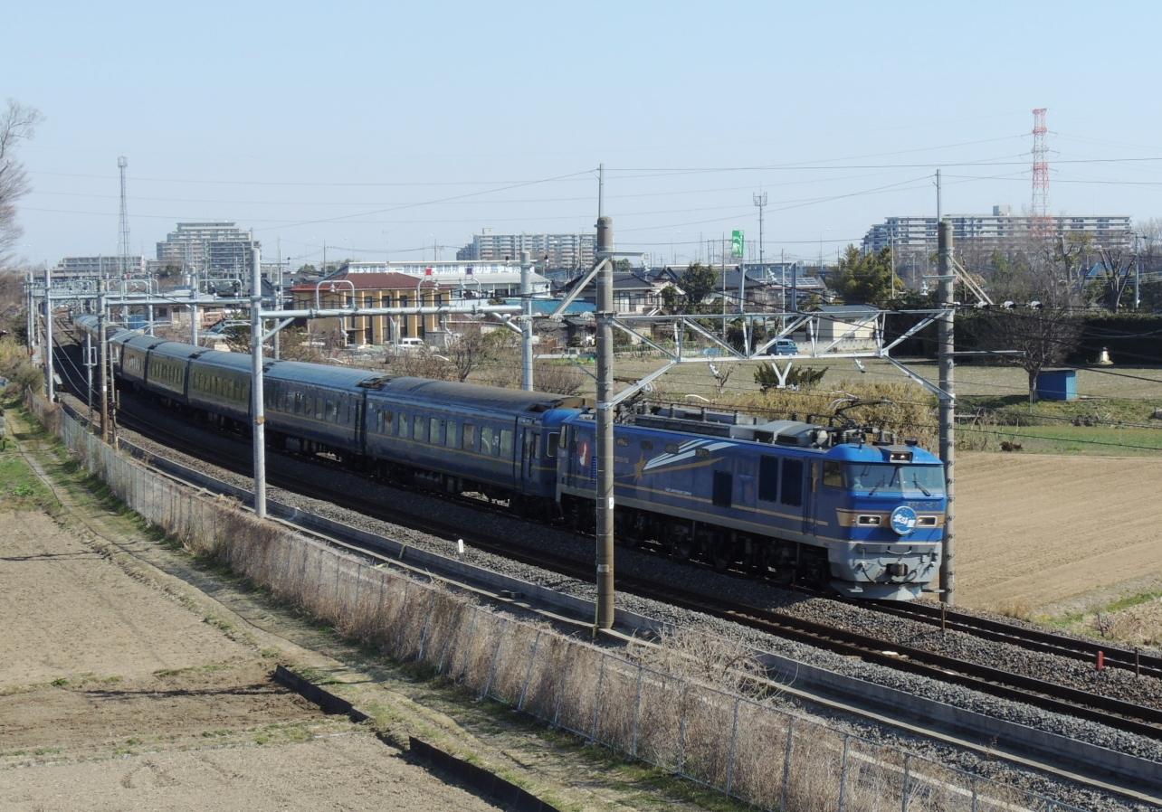 北斗星号EF510-512号機牽引 白岡陸橋にて (2)
