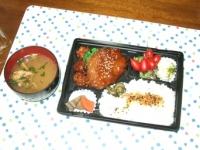 3/30 夫の夕食 豆腐ハンバーグ弁当、味噌汁