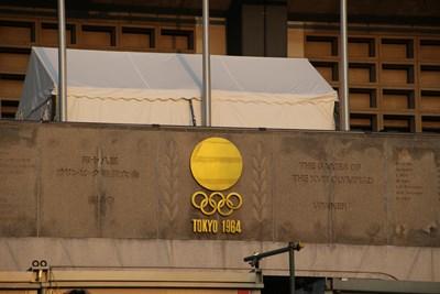 5/31 東京オリンピックの表示  国立競技場