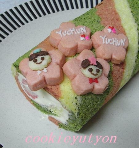 ひな祭りロールケーキ