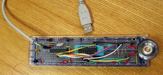 ブレッドボード電子オルゴール