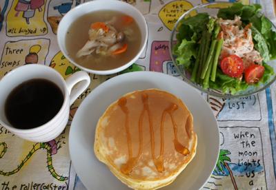 朝パンケーキ