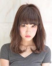 清楚で上品なツヤツヤ黒髪であどけないお嬢様ヘアスタイル 2014年夏 旬の髪型