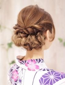 夏イベント 浴衣の髪型 祭り 花火 京都旅行 温泉で人気のヘアアレンジ
