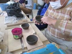 陶芸班成形2