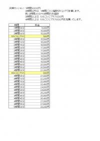 夫婦セッション料金表