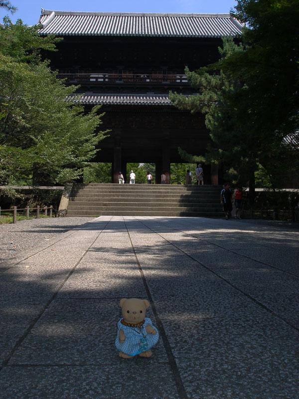 南禅寺三門前で