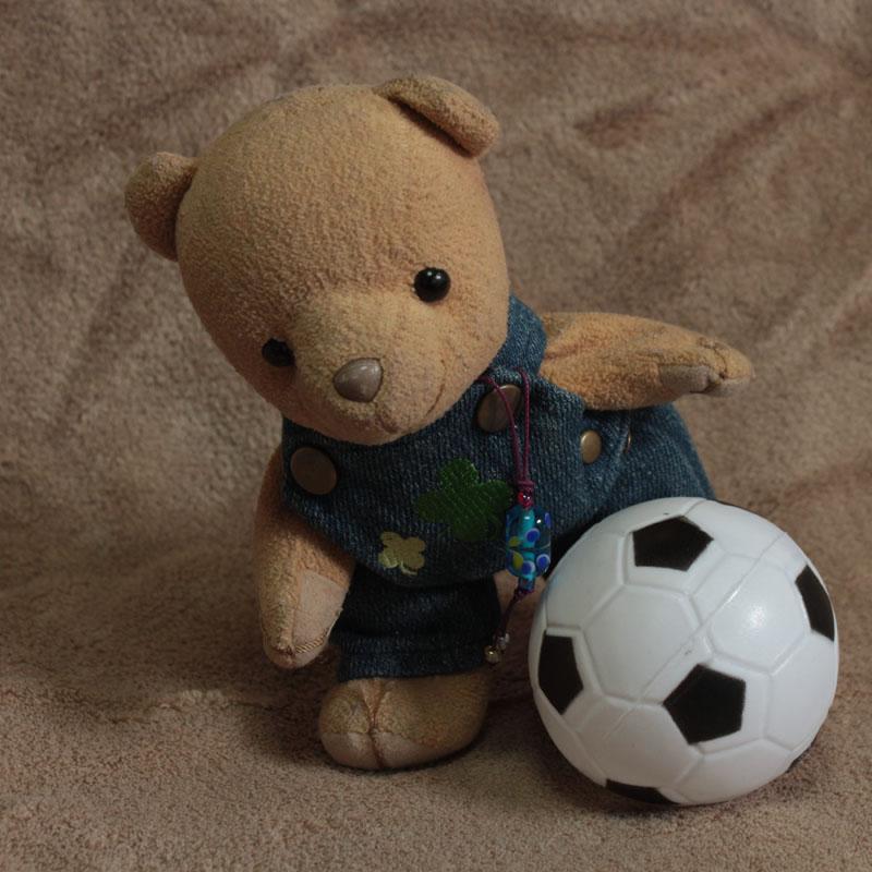 サッカーボールと戯れる c