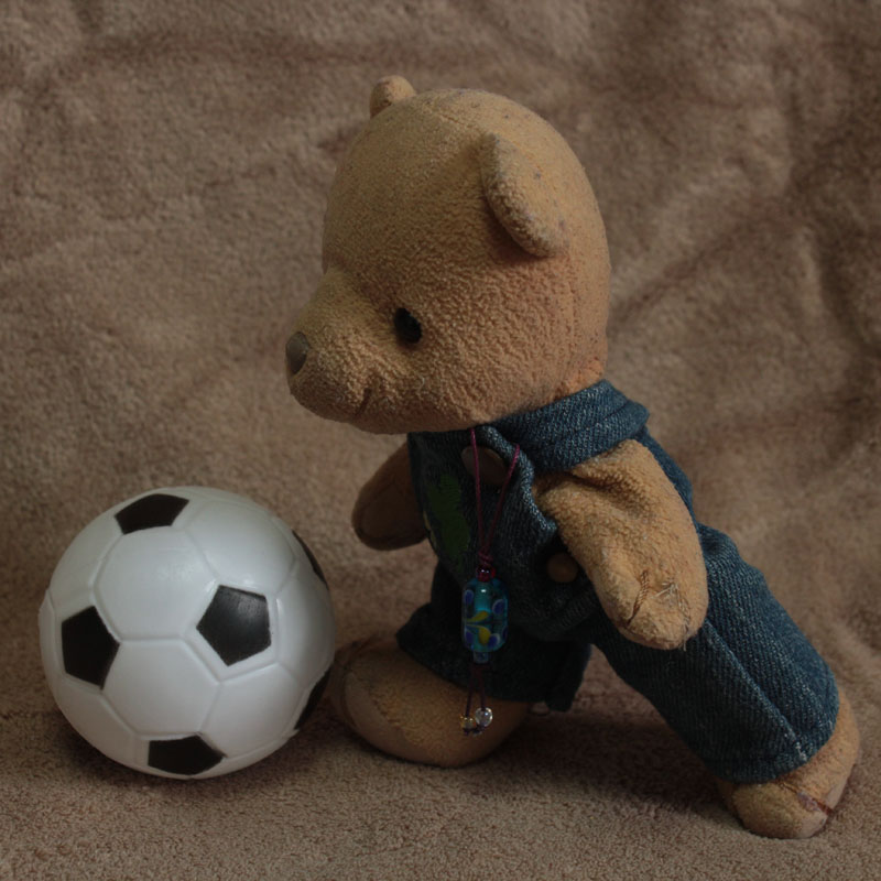 サッカーボールと戯れる a