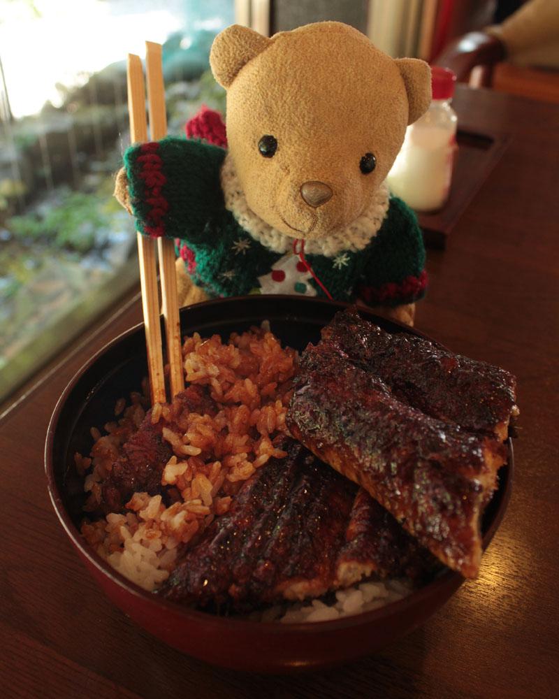 川貞うなぎ丼 松 を食べる b
