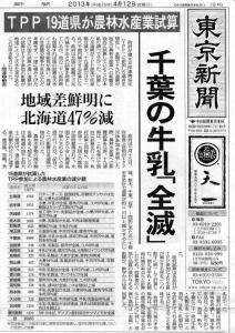 TPP 東京新聞 ローカルいいね