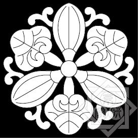 京都五條天神宮(蔓付三つ葉蘿摩紋/唐草葵)