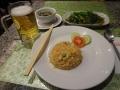 空芯菜炒めと焼き飯