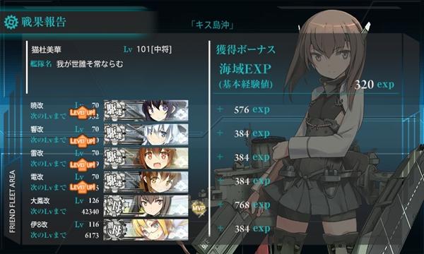 艦これ 暁型 70レベル