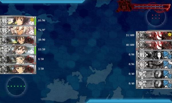 艦これ E-6 旗艦HP21