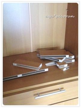 NEWコンロのまわり 材料となった棚板