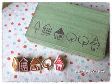 はんこde木製小物入れ 作品例②